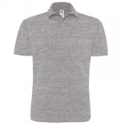 Polo Heavymill colore heather grey taglia S