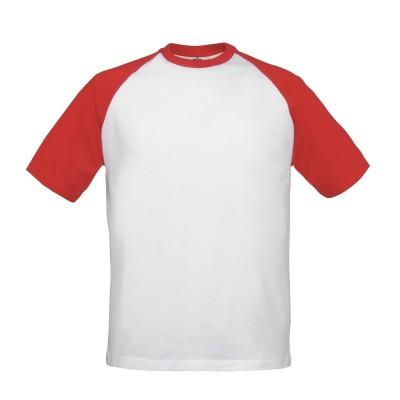 T-Shirt Base-Ball colore white/red taglia S