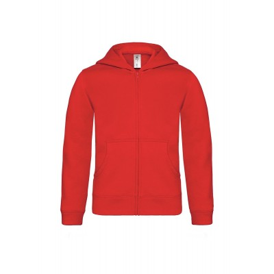 Felpe Hooded Full Zip /Kids colore red taglia 3/4