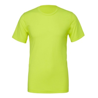 T-Shirt Unisex Poly-Cotton Short Sleeve Tee colore Neon Yellow taglia S