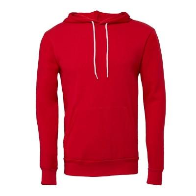Felpe Unisex Sponge Fleece Pullover Hoodie colore Red taglia S