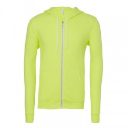 Felpe Unisex Sponge Fleece Full-Zip Hoodie colore Neon Yellow taglia S