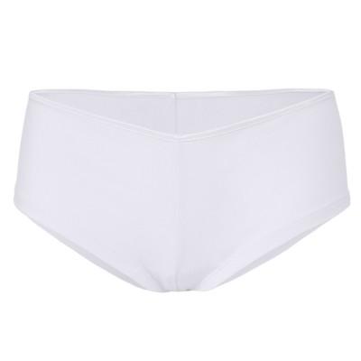 Underwear Women's Cotton Spandex Shortie colore White taglia S