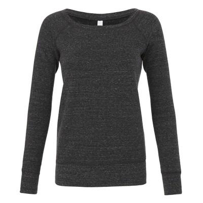 Felpe Women's Sponge Fleece Wide Neck Sweatshirt colore Charcoal-Black Triblend taglia S