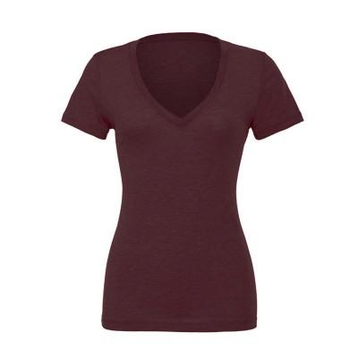 T-Shirt Triblend Short Sleeve Deep V-Neck Tee colore Amethyst Triblend taglia S
