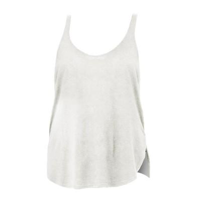 T-Shirt Women's Flowy Side Slit Tank colore White taglia S