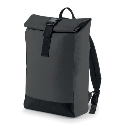 Borse Reflective Roll-Top Backpack colore Black Reflective taglia UNICA