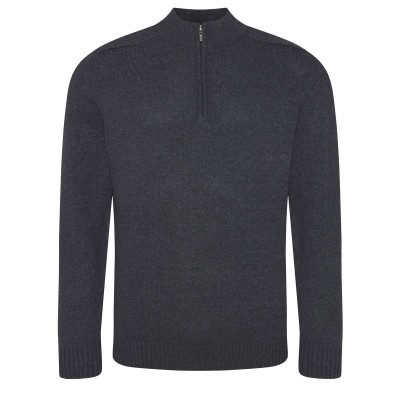 Felpe Wakhan 1/4 Zip Knit Sweater colore charcoal taglia S