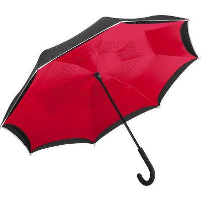Ombrelli Regular umbrella FARE®-Contrary colore Black-Red taglia UNICA