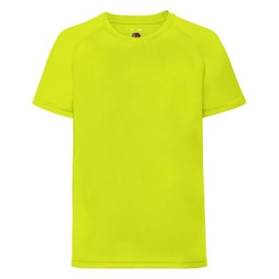 T-Shirt Kids Performance T colore bright yellow taglia 3/4
