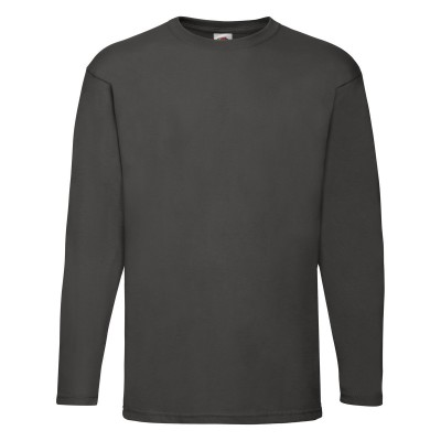 T-Shirt Valueweight Long Sleeve T colore light graphite taglia S