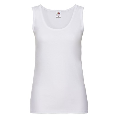 T-Shirt Ladies Valueweight Vest colore white taglia XS