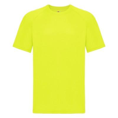 T-Shirt Performance T colore bright yellow taglia S