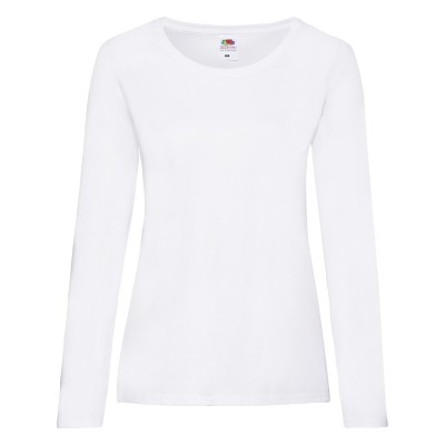T-Shirt Ladies Valueweight Long Sleeve T colore white taglia XS