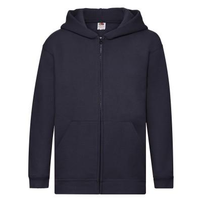 Felpe Kids Premium Hooded Sweat Jacket colore deep navy taglia 5/6