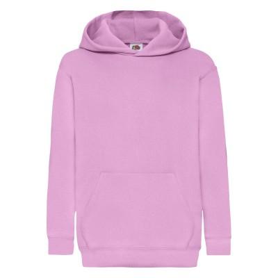Felpe Kids Classic Hooded Sweat colore light pink taglia 5/6