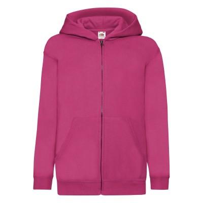 Felpe Kids Classic Hooded Sweat Jacket colore fuchsia taglia 5/6
