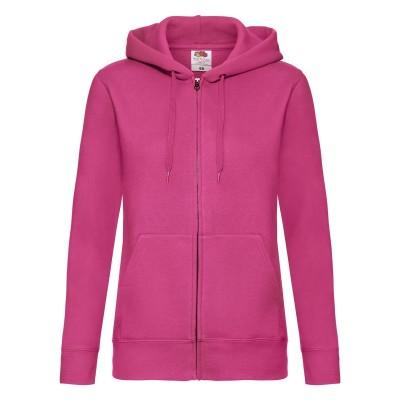 Felpe Ladies Premium Hooded Sweat Jacket colore fuchsia taglia XS