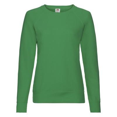 Felpe Ladies Lightweight Raglan Sweat colore kelly green taglia XS