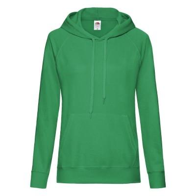 Felpe Ladies Lightweight Hooded Sweat colore kelly green taglia XS