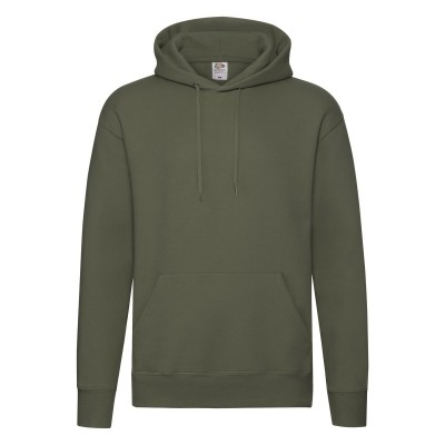 Felpe Premium Hooded Sweat colore classic olive taglia S