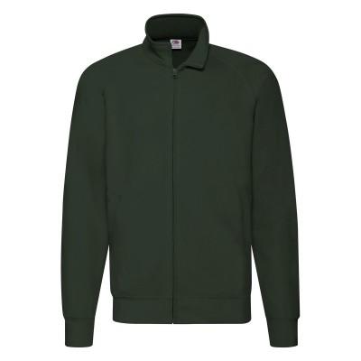 Felpe Lightweight Sweat Jacket colore bottle green taglia S
