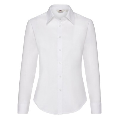 Camicie Ladies Oxford Shirt Long Sleeve colore white taglia XS