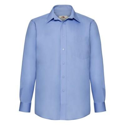 Camicie Poplin Shirt Long Sleeve colore mid blue taglia S