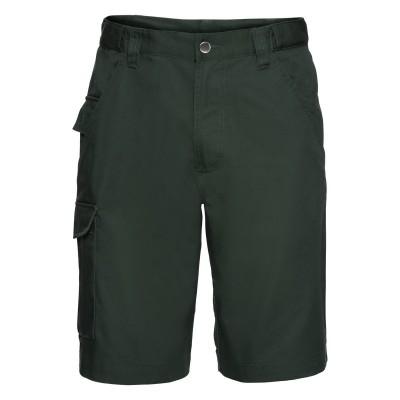 Pantaloni Adults' Polycotton Twill Shorts colore bottle green taglia 44/38
