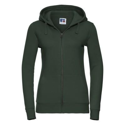 Felpe Sweat Authentic Zipped Hood p/Hooded W colore bottle green taglia XS