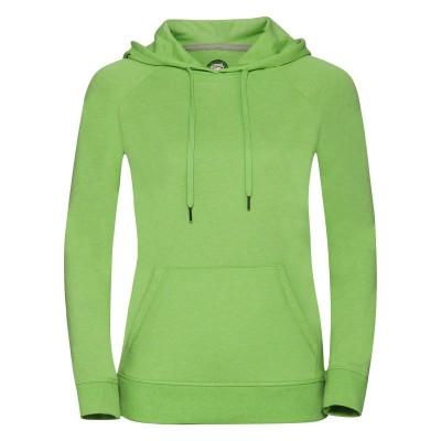 Felpe Ladies' HD Hooded Sweat colore green marl taglia XS