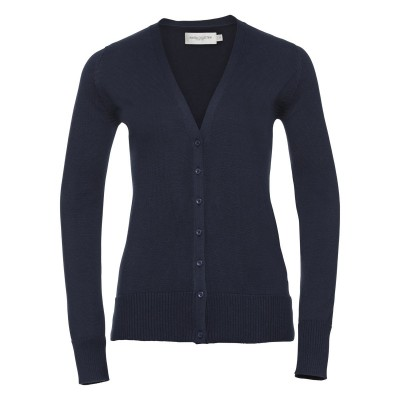 Maglieria Ladies' V-Neck Knitted Cardigan colore french navy taglia XXS