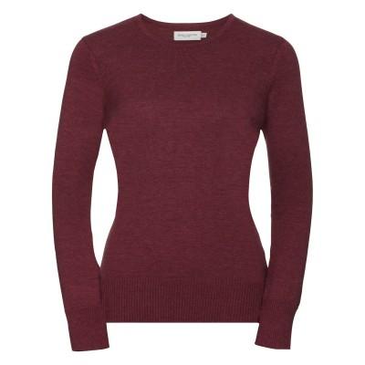 Maglieria Ladies' Crew Neck Knitted Pullover colore Cranberry Marl taglia XXS