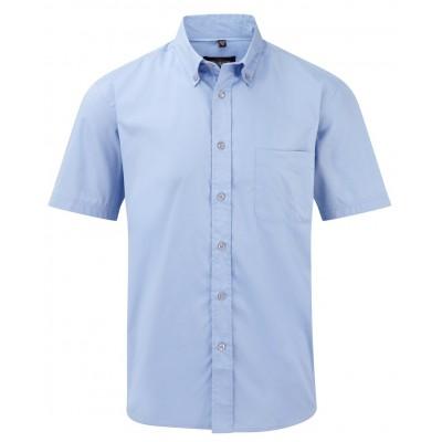 Camicie Men's Short Sleeve Classic Twill Shirt colore blue taglia S