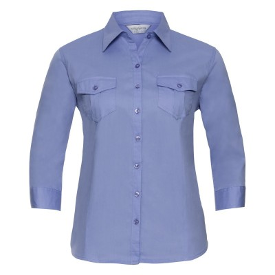 Camicie Ladies' Roll 3/4 Sleeve Shirt colore blue taglia XS