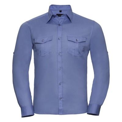 Camicie Men's Roll Long Sleeve Shirt colore blue taglia S