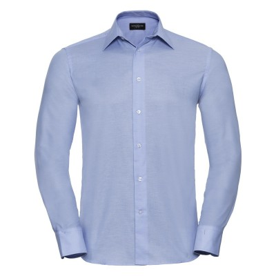 Camicie Men's Long Sleeve Tailored Oxford Shirt colore oxford blue taglia S