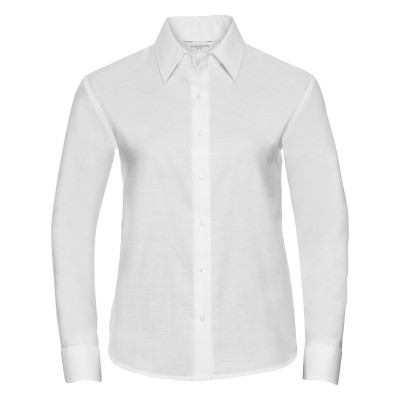 Camicie Ladies' Long Sleeve Easy Care Oxford Shirt colore white taglia XS