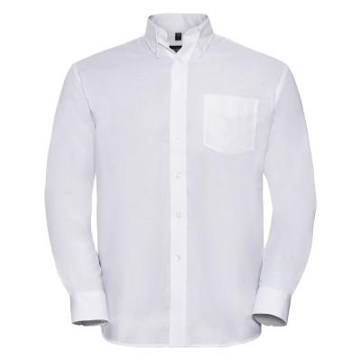 Camicie Men's Long Sleeve Easy Care Oxford Shirt colore white taglia S