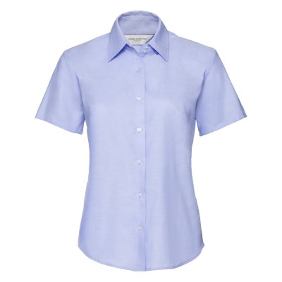 Camicie Ladies' Short Sleeve Easy Care Oxford Shirt colore oxford blue taglia XS