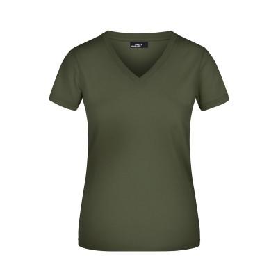 T-Shirt Ladies' V-T colore olive taglia S