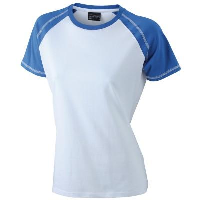 T-Shirt Ladies' Raglan-T colore white/royal taglia S