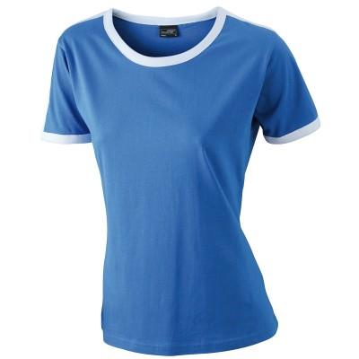 T-Shirt Ladies' Flag-T colore royal/white taglia S