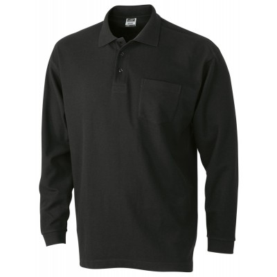 Polo Polo Piqué Long-Sleeved colore black taglia S