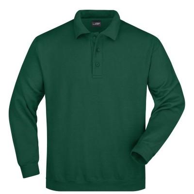 Felpe Polo Sweat Heavy colore dark-green taglia S