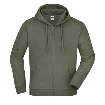 Felpe Hooded Jacket colore olive taglia S