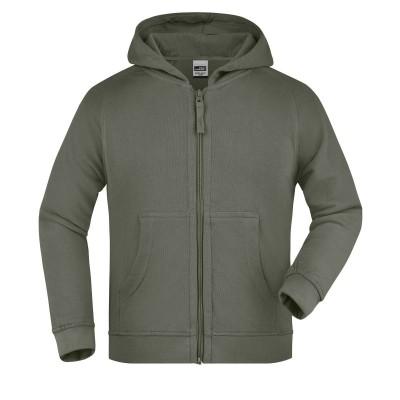 Felpe Hooded Jacket Junior colore olive taglia XS