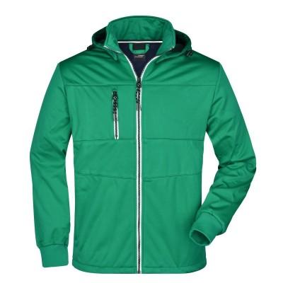 Soft shell Men's Maritime Jacket colore irish-green/navy/white taglia S