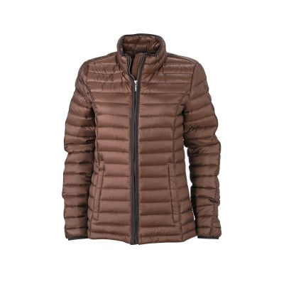 Giacche Ladies' Quilted Down Jacket colore coffee/black taglia S