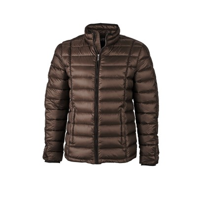 Giacche Men's Quilted Down Jacket colore coffee/black taglia S